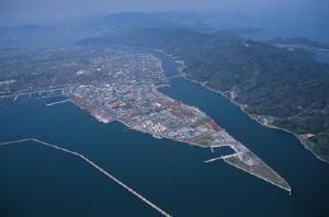 境港の航空写真