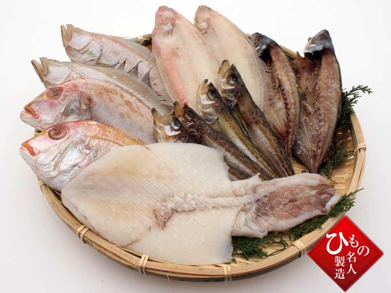 山陰沖 日本海産 名人の干物特選6種類(連子鯛入り)