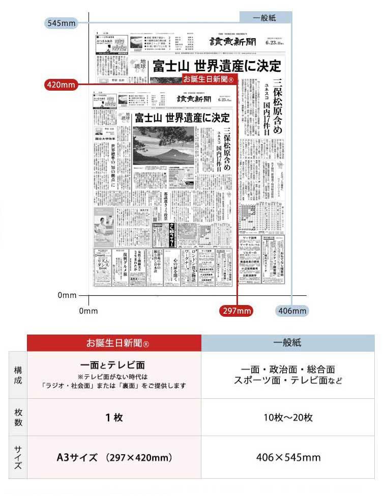 新聞セット-一般紙との比較のイメージ