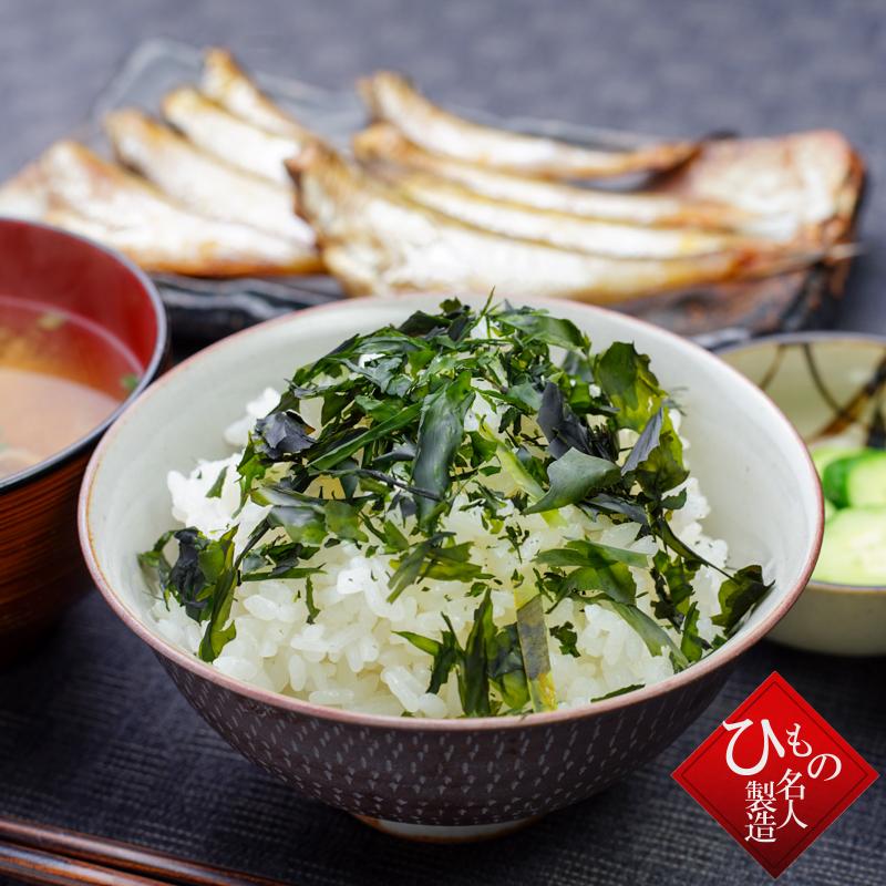 板わかめの食べ方_ご飯の上にかけて食べます。