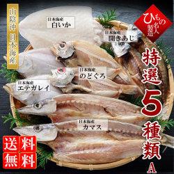 名人の干物5種(のどぐろ入り)詰合-A【送料無料】