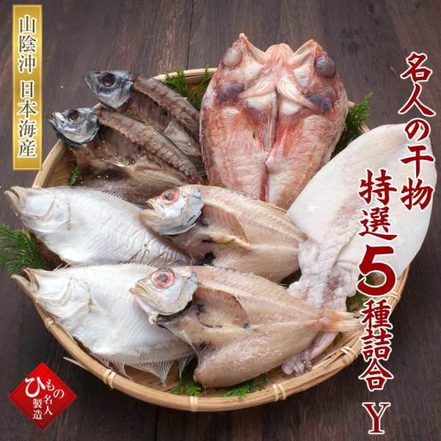 干物(ひもの)詰合 名人の干物 5種-Y(のどぐろ中・ゆめかさご入り)