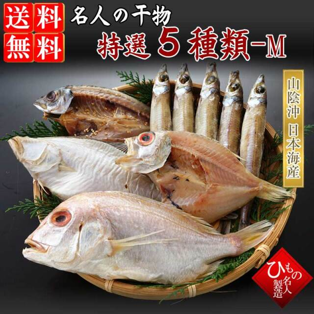 (女性人気No.1) 名人の干物5種詰め合わせ-M 【送料無料】北海道・東北・沖縄は送料520円をお願いします。