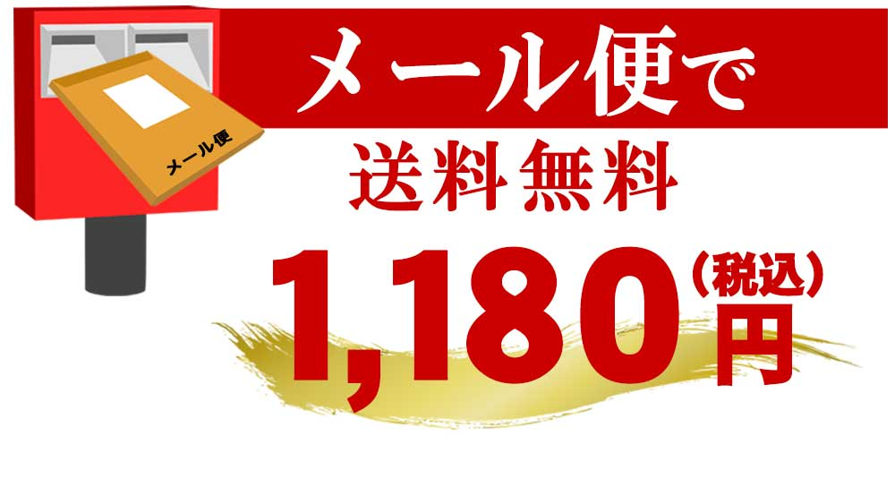 メール便で送料無料 1080円