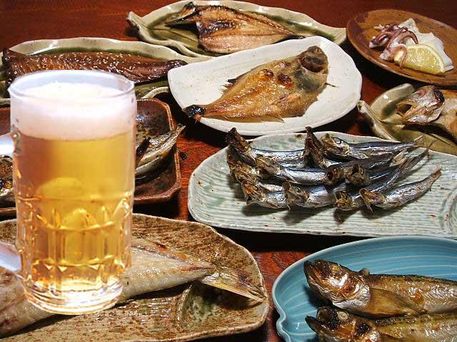 干物とビール