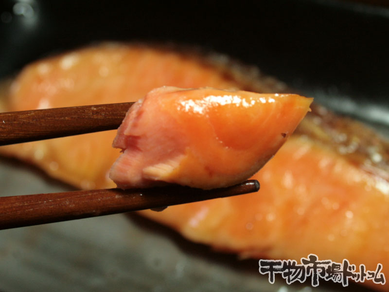 焼いた昆布締めのサーモン2